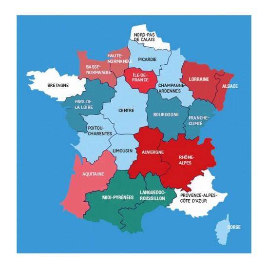 Puzzle d'art en bois 30 pièces Michèle Wilson : Carte des régions - PMW-Z31