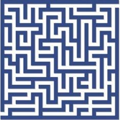 Puzzle d'art en bois 30 pièces Michèle Wilson : Labyrinthe