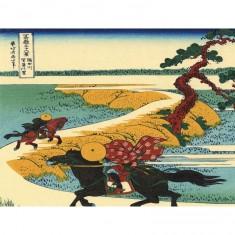 Puzzle d'art en bois 30 pièces Michèle Wilson : Sekiya, Hokusai