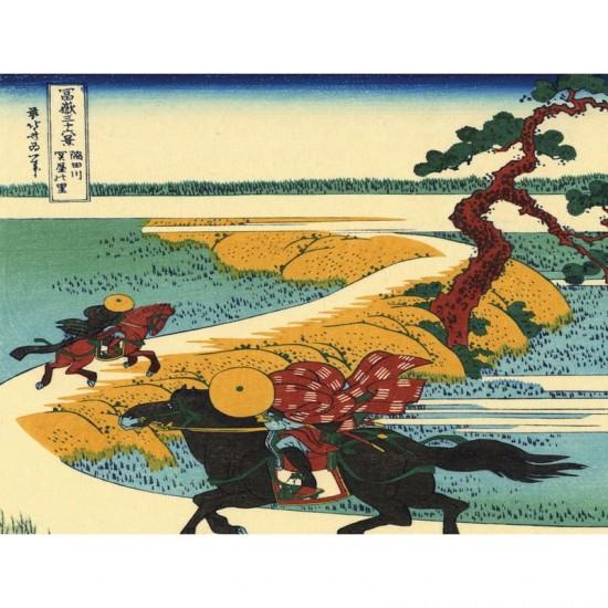 Puzzle d'art en bois 30 pièces Michèle Wilson : Sekiya, Hokusai - PMW-Z21