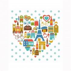 Puzzle d'art en bois 30 pièces Michèle Wilson Cuzzles Paris : Le coeur de Paris