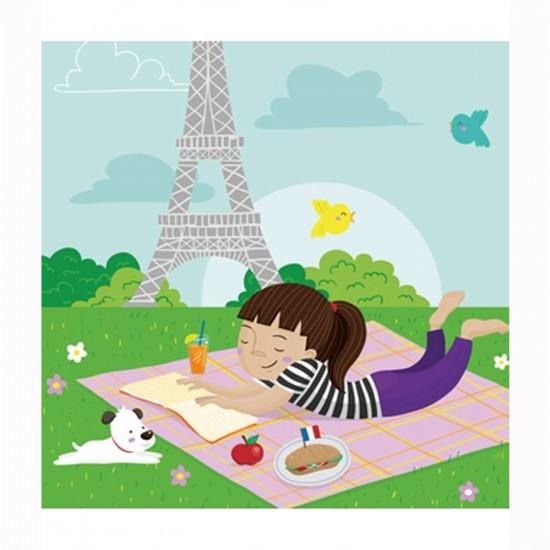 Puzzle d'art en bois 30 pièces Michèle Wilson Cuzzles Paris : Pique-nique à Paris - PMW-Z13