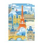 Puzzle d'art en bois 30 pièces Michèle Wilson - Mahé : Paris en folie