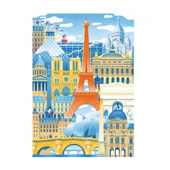 Puzzle d'art en bois 30 pièces Michèle Wilson - Mahé : Paris en folie - PMW-Z59
