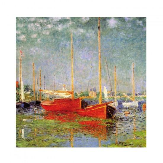 Puzzle d'art en bois 30 pièces Michèle Wilson - Monet : Bateaux rouges - PMW-Z47