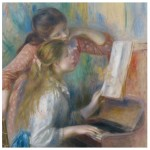 Puzzle d'art en bois 30 pièces Michèle Wilson - Renoir : Jeunes filles au piano