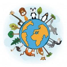 Puzzle d'art en bois 30 pièces Michèle Wilson - WWF : Il est encore temps