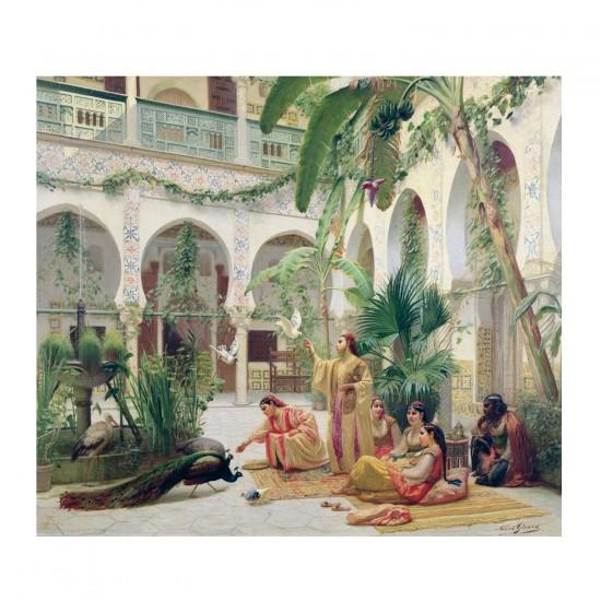 Puzzle d'art en bois 300 pièces Michèle Wilson - Girard : La Cour du Harem - PMW-H170-300