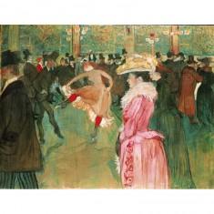 Puzzle d'art en bois 350 pièces : Lautrec : Bal au Moulin Rouge