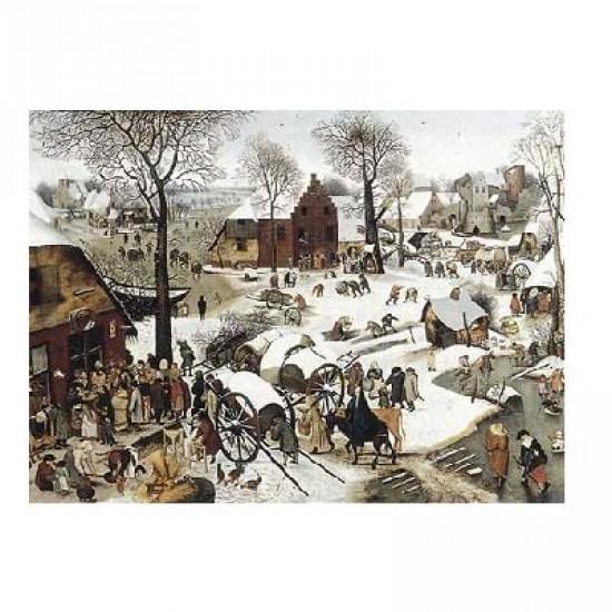 Puzzle d'art en bois 350 pièces Michèle Wilson - Brueghel  : Le dénombrement de Bethléem - PMW-C58-350
