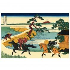 Puzzle d'art en bois 350 pièces Michèle Wilson - Hokusai : Les Champs Sekiya