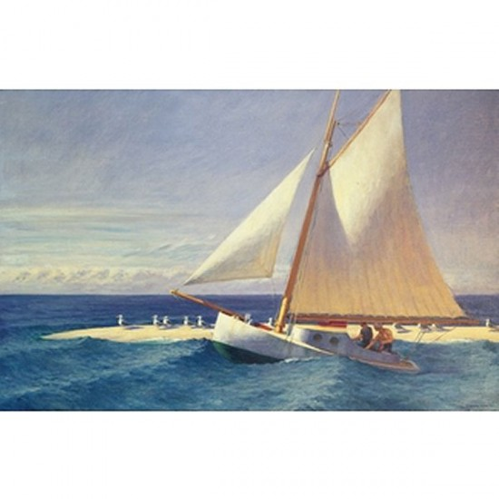 Puzzle d'art en bois 350 pièces Michèle Wilson - Hopper : Le bateau à voiles - PMW-A278-350