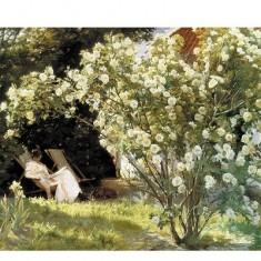 Puzzle d'art en bois 350 pièces Michèle Wilson - Kroyer : Dans la Roseraie