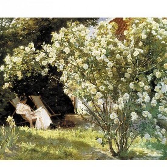 Puzzle d'art en bois 350 pièces Michèle Wilson - Kroyer : Dans la Roseraie - PMW-A578-350