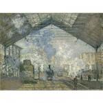 Puzzle d'art en bois 350 pièces Michèle Wilson - Monet : La gare Saint Lazare
