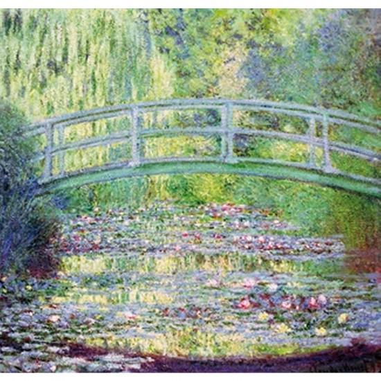 Puzzle d'art en bois 350 pièces Michèle Wilson - Monet : Le pont japonnais - PMW-A910-350
