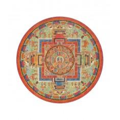 Puzzle d'art en bois 350 pièces Michèle Wilson - Puzzle rond : Mandala de Sitâtapatrâ