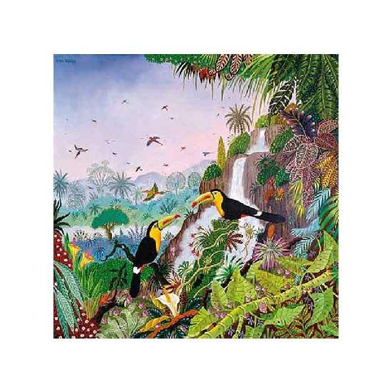 Puzzle d'art en bois 350 pièces Michèle Wilson - Thomas : Toucans à carène - PMW-A942-350