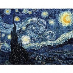 Puzzle d'art en bois 350 pièces Michèle Wilson - Van Gogh : Nuit étoilée