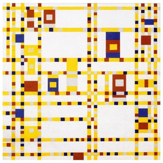 Puzzle d'art en bois 40 pièces : Broadway Boogie Woogie Mondrian - PMW-M394-40