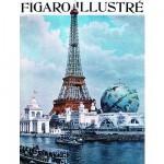 Puzzle d'art en bois 40 pièces Michèle Wilson - Le Figaro illustré : Exposition universelle