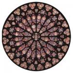 Puzzle d'art en bois 40 pièces Michèle Wilson - Rosace Notre Dame