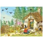 Puzzle d'art en bois 50 pièces Michèle Wilson - Michaut : Coup de Foudre