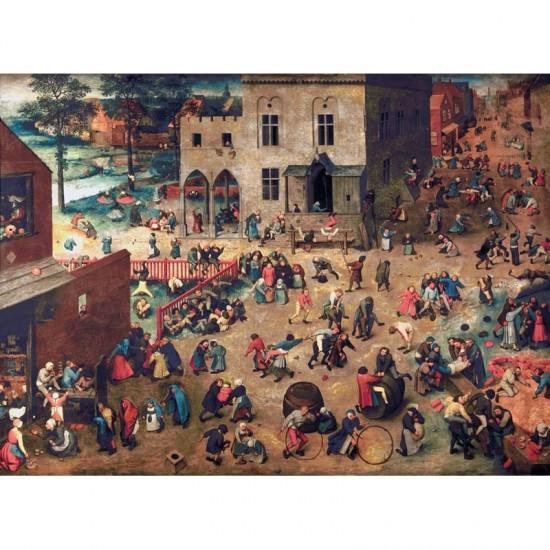 Puzzle d'art en bois 500 pièces : Bruegel : Jeux d'enfants - PMW-A904-500