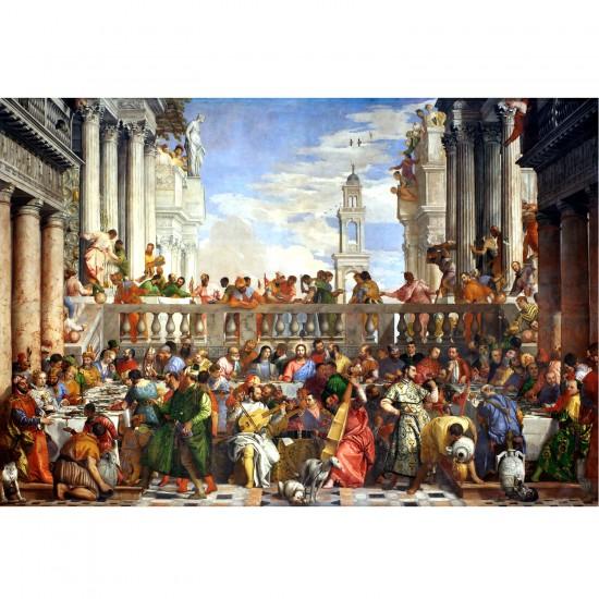 Puzzle d'art en bois 500 pièces : Paolo Veronese : Les noces de Cana - PMW-A367-500