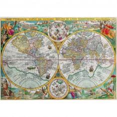 Puzzle d'art en bois 500 pièces Michèle Wilson : Carte du monde de 1594