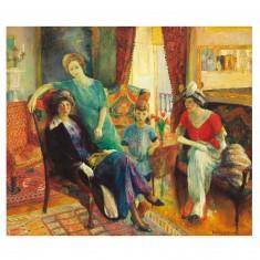 Puzzle d'art en bois 500 pièces Michèle Wilson - Glackens : La Famille Glackens