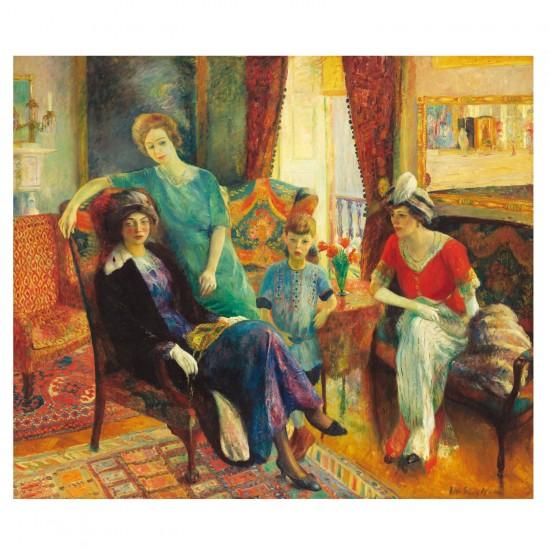 Puzzle d'art en bois 500 pièces Michèle Wilson - Glackens : La Famille Glackens - PMW-A184-500