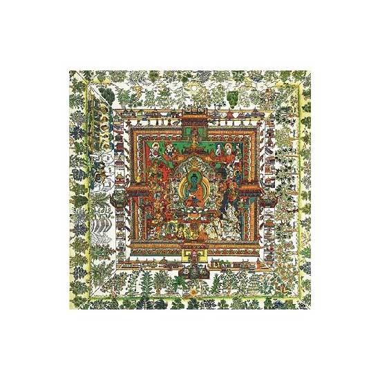 Puzzle d'art en bois 500 pièces Michèle Wilson - Mandala de la Médecine : Art Tibétain - PMW-A513-500