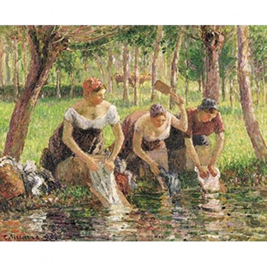 Puzzle d'art en bois 500 pièces Michèle Wilson - Pissarro : Les lavandières - PMW-A717-500