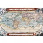 Puzzle d'art en bois 5000 pièces Michèle Wilson - Carte du monde : La théâtre du monde