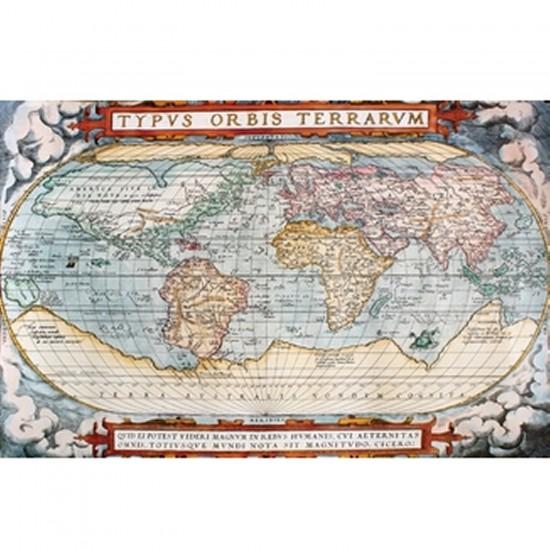 Puzzle d'art en bois 5000 pièces Michèle Wilson - Carte du monde : La théâtre du monde - PMW-A292-5000