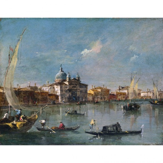 Puzzle d'art en bois 650 pièces : Guardi : Vue du canal du Canareggio - PMW-A247-650