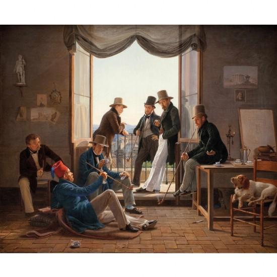 Puzzle d'art en bois 650 pièces Michèle Wilson : Hansen : Artistes danois à Rome - PMW-A331-650