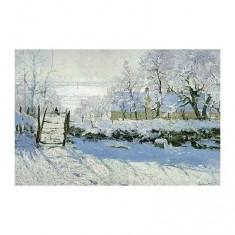 Puzzle d'art en bois 650 pièces Michèle Wilson - Monet  :  La pie