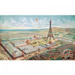 Puzzle d'art en bois 750 pièces Michèle Wilson : Gravure de Paris 1889
