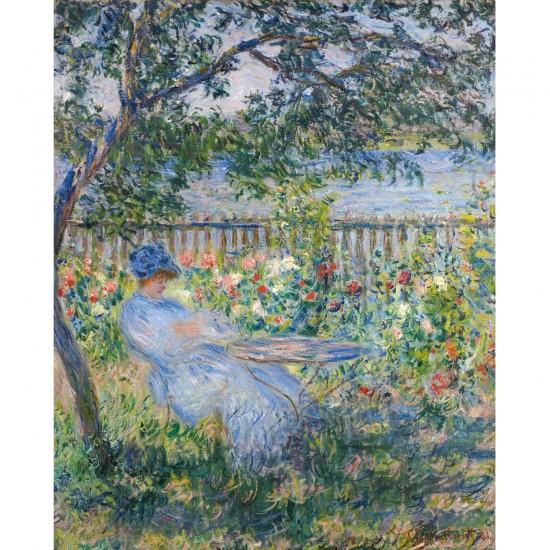 Puzzle d'art en bois 750 pièces Michèle Wilson : Monet : Terrasse à Vétheuil - PMW-A337-750