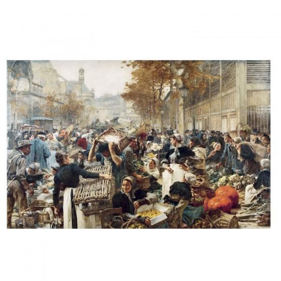 Puzzle d'art en bois 750 pièces Michèle Wilson - Lhermitte : Les Halles de Paris - PMW-A174-750