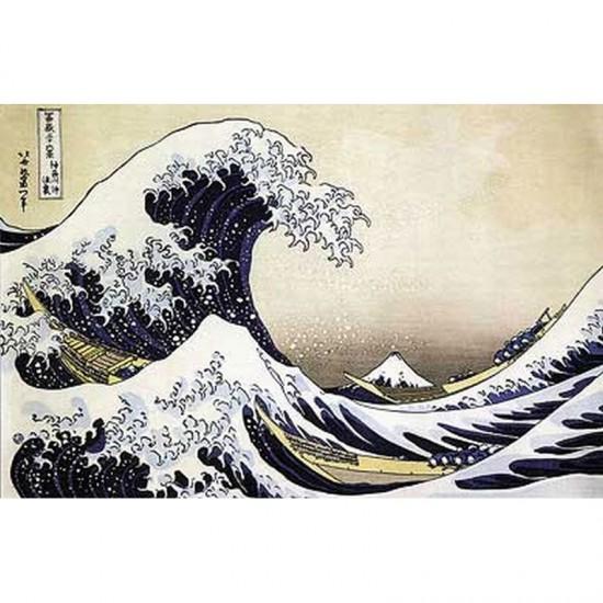 Puzzle d'art en bois 80 pièces : Hokusai : La vague - PMW-P943-80