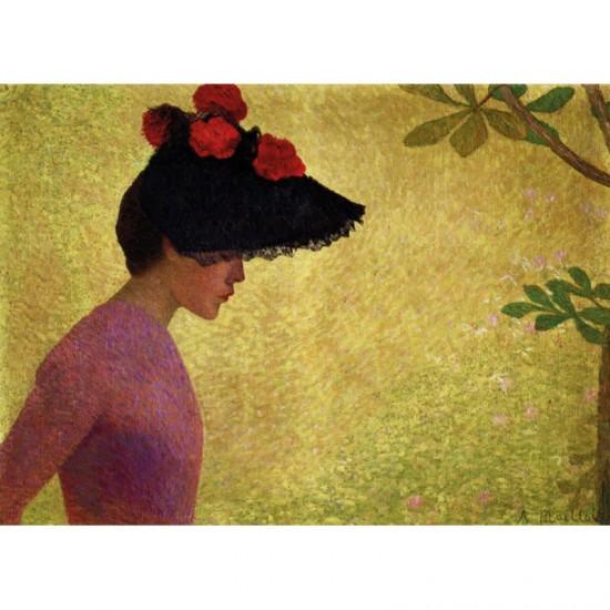 Puzzle d'art en bois 80 pièces : Maillol : Jeune fille de profil - PMW-A230-80