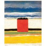 Puzzle d'art en bois 80 pièces : Malevitch : La maison rouge