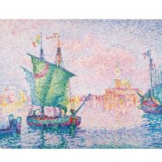 Puzzle d'art en bois 80 pièces Michèle Wilson : Signac : Le nuage rose