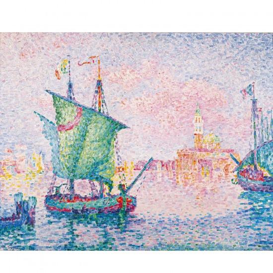 Puzzle d'art en bois 80 pièces Michèle Wilson : Signac : Le nuage rose - PMW-A314-80