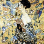 Puzzle d'art en bois 80 pièces Michèle Wilson - Klimt : La Dame à l'éventail