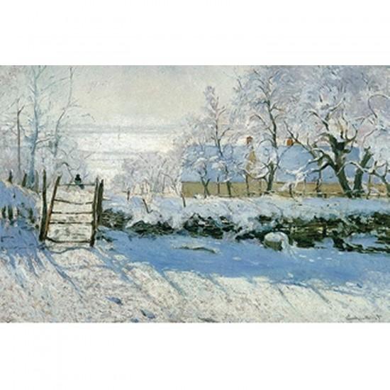 Puzzle d'art en bois 80 pièces Michèle Wilson - Monet : La Pie - PMW-C803-80