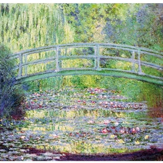 Puzzle d'art en bois 80 pièces Michèle Wilson  -  Monet  :  Le pont japonais - PMW-A910-80
